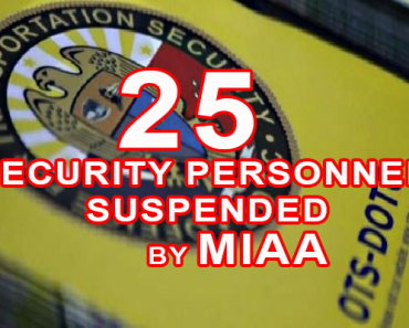 25 Security Personnel Suspended