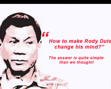 Duterte changes his mind and runs for president.