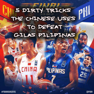 5 dirty tricks the Chinese uses to defeat Gilas Pilipinas