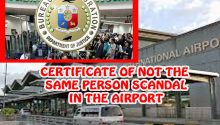 Certificate of not the same person scandal