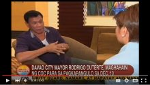Mayor Duterte