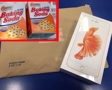 iPhone 6 replaced with baking soda by Customs