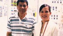 Rowee Santos Delgado with Mayor Duterte