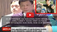 Chito Miranda defends Duterte