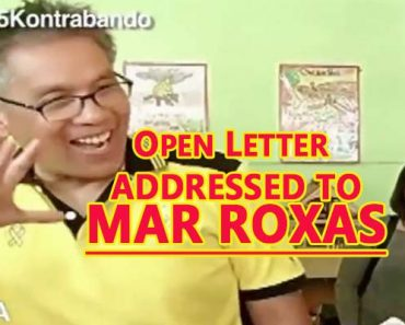 Open Letter addressed to Mar Roxas