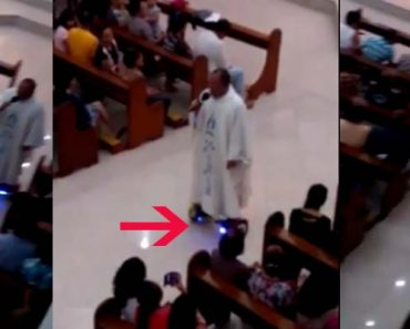 Priest using hoverboard while saying mas draws different reactions