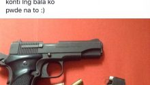 netizen post photo of pistol