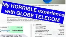 Netizen rants against Globe Telecom