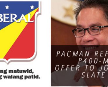 LP offered Pacquiao 400M to join LP Senate slate