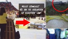 Mar Roxas photos violating election law