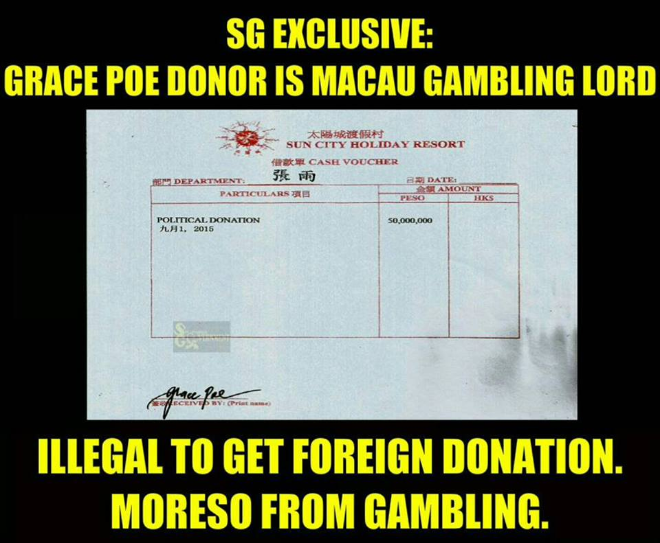 Grace Poe scandal photo