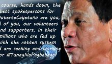 Duterte invites volunteers