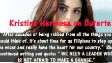 Kristine Hermosa on endorsing Duterte