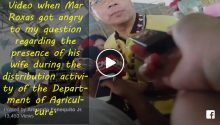 Mar Roxas lose his temper interview video