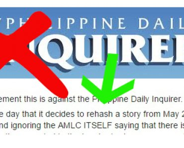 Manila Times columnist slams Inquirer for anchoring banner headline on rehashed AMLAC report