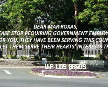 UPLB Student's open letter to Mar Roxas