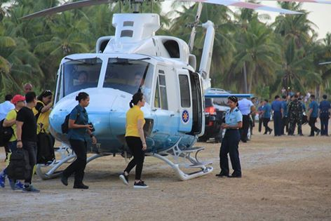 Kris Aquino and her helicopter ride