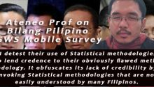Ateneo Prof on Bilang Pilipino SWS survey