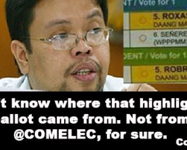 COMELEC on highlighted ballot