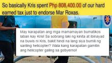 Government wasted 800k to fly Kris to Mars campaign rally in Cebu