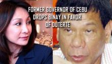 Gwen Garcia drops Binay in favor of Duterte