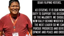 Ira Panganibans OPEN LETTER to FIlipino voters