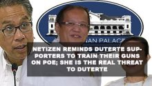 Netizen reminds Duterte supporters to train their guns on Poe