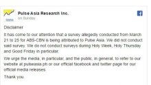 Pulse Asia survey