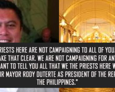 priest in Bohol announced he is for Duterte during Mass