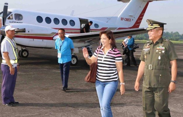 Leni Robredo exchanges bus for private plane