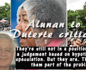 Rafael Alunan to Duterte critics