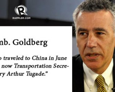 Amb Goldberg on Sec Tugade