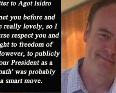 Open letter to Agot Isidro