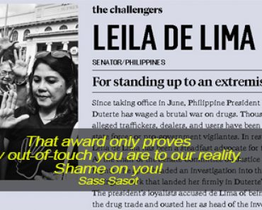 de Lima as100 global thinkers of 2016 questioned
