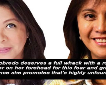 Dr. Badoy wants to whack Robredo
