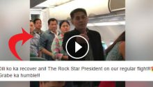 Duterte catching a commercial flight video