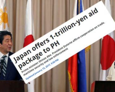 Japan offers 1trillion aid to Philippines
