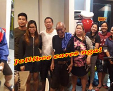 Missing Lolo reunites with family with the help of kind Jollibee crew