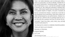 Parody Letter from Satan to Leni Robredo