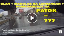 Patok jeepney caught on cam