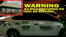 new modus of NAIA airport taxis