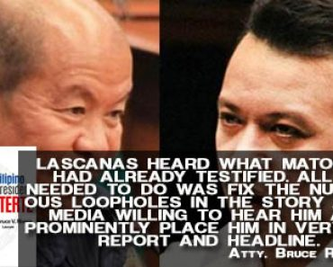 Atty Bruce Rivera on Lascanas
