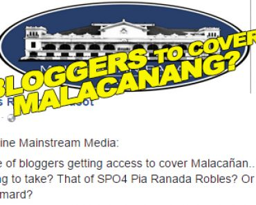 Bloggers to cover Malacanang