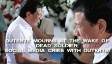 Duterte cries at soldiers wake