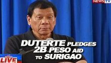 Duterte pledges 2B aid to Surigao