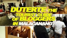 Duterte toured bloggers in Malacanang