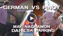 German versus Pinoy nagaway dahil sa parking