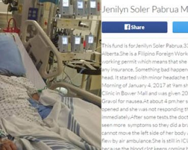 GoFundMe campaign for sick OFW