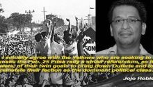 Jojo Robles on Feb 25 Edsa Rally