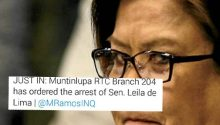 Netizens react on de Limas arrest